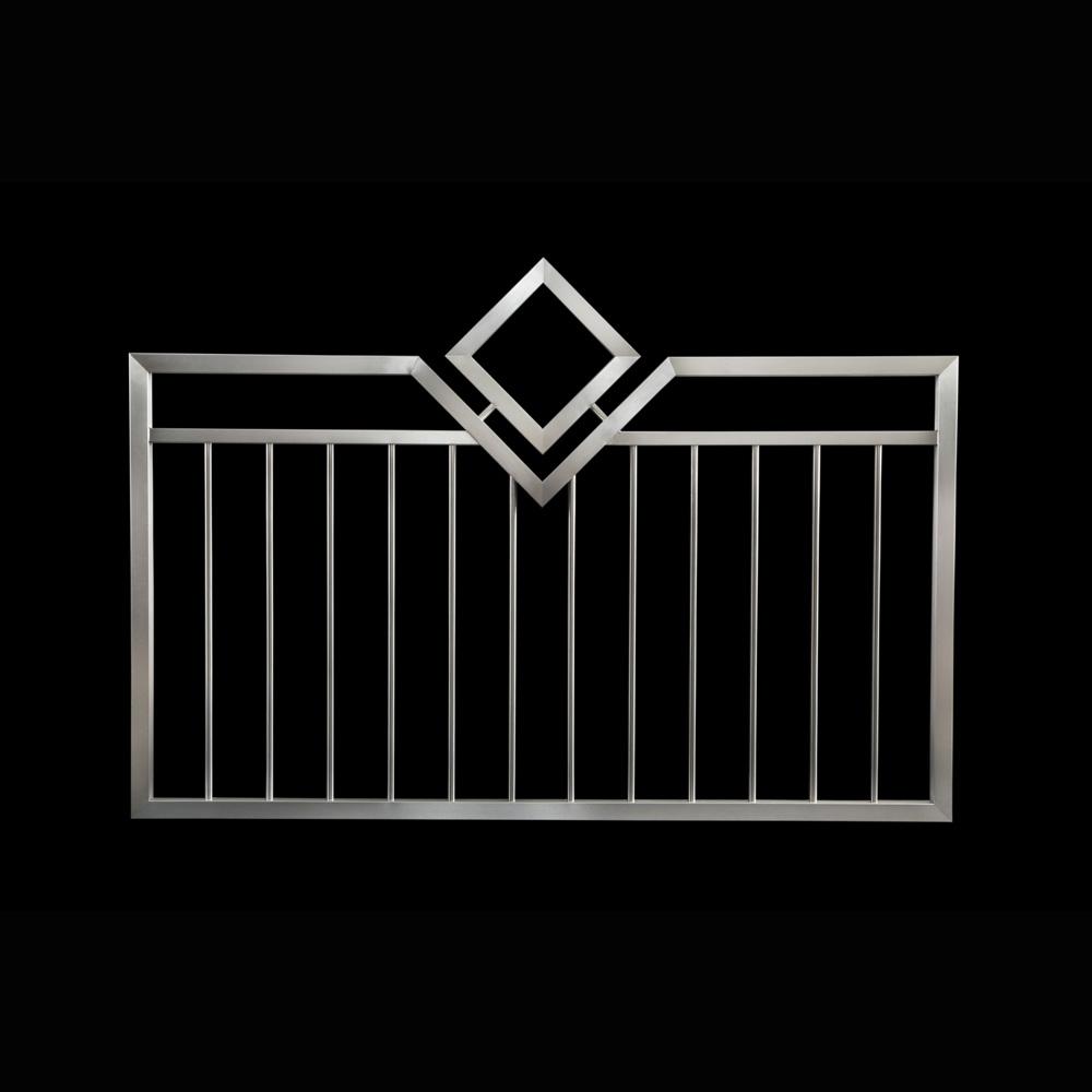 Rozsdamentes kerítés