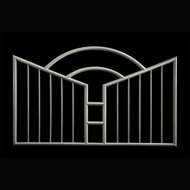 Rozsdamentes kerítés betét