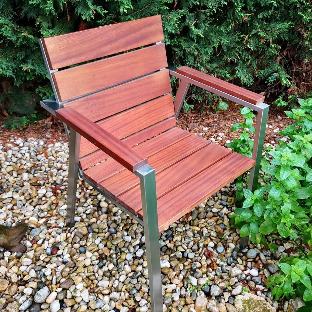 Rozsdamentes kerti szék
