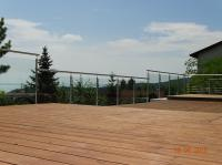 Hairline-polished outdoor stainless steel railings