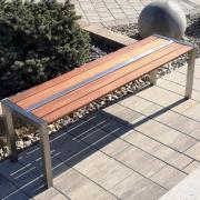 Edestahl Gartensitzbänke