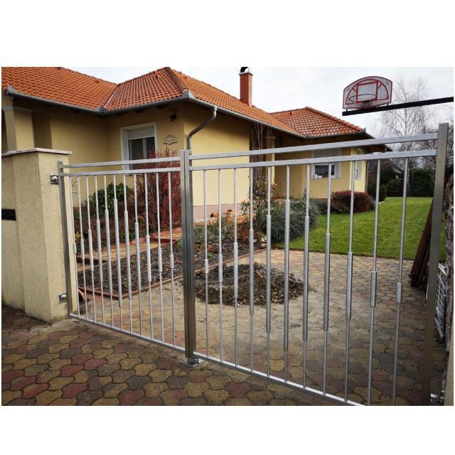 Rozsdamentes kétszárnyú kapu